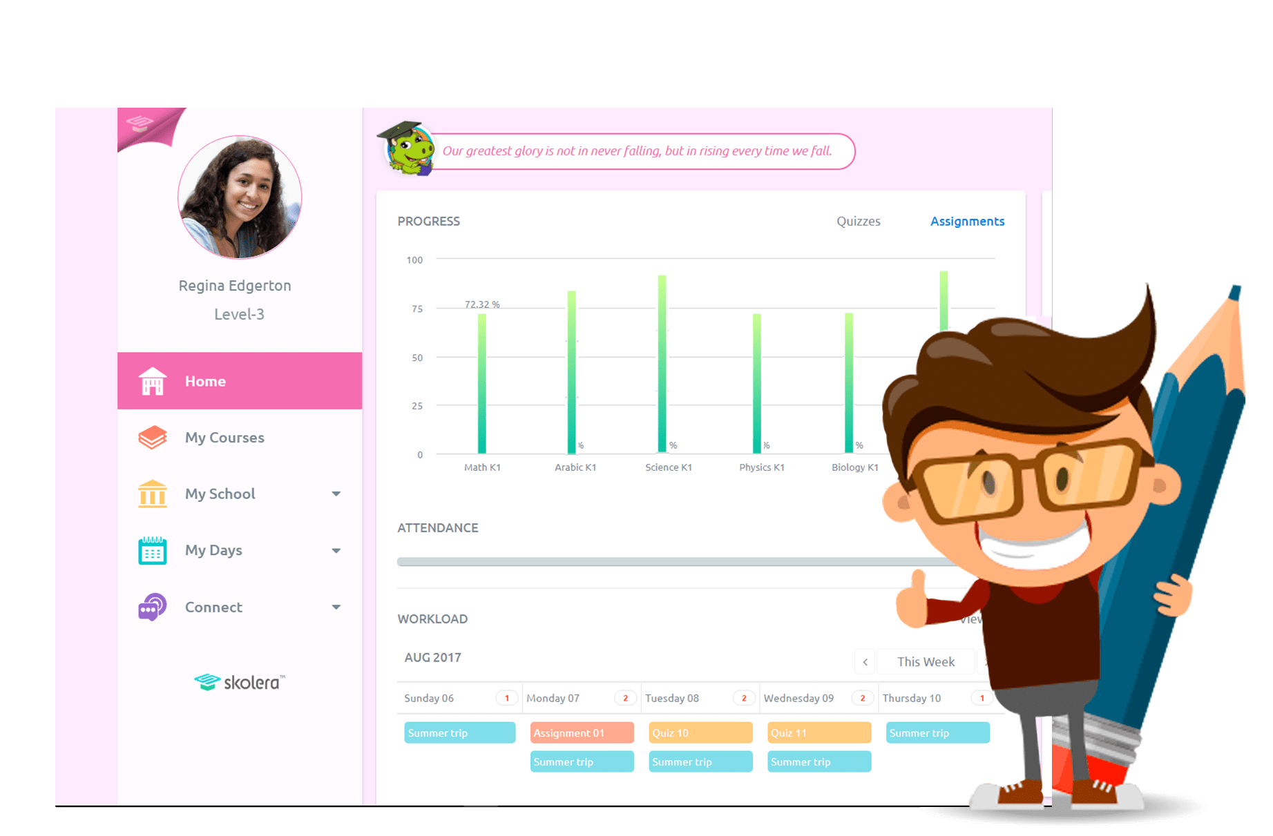 User-friendly LMS interface for students